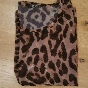 Shein Leopard Print Top
